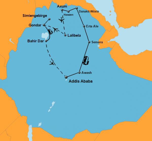 wüste afrika karte